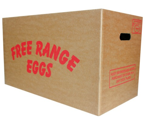 Free range egg box